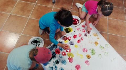 I ara a pintar amb verdures!