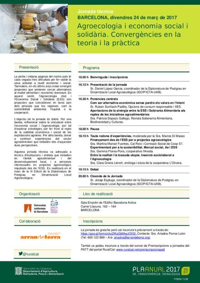 Aresta_PATT Agroecologia i Economia Solidaria