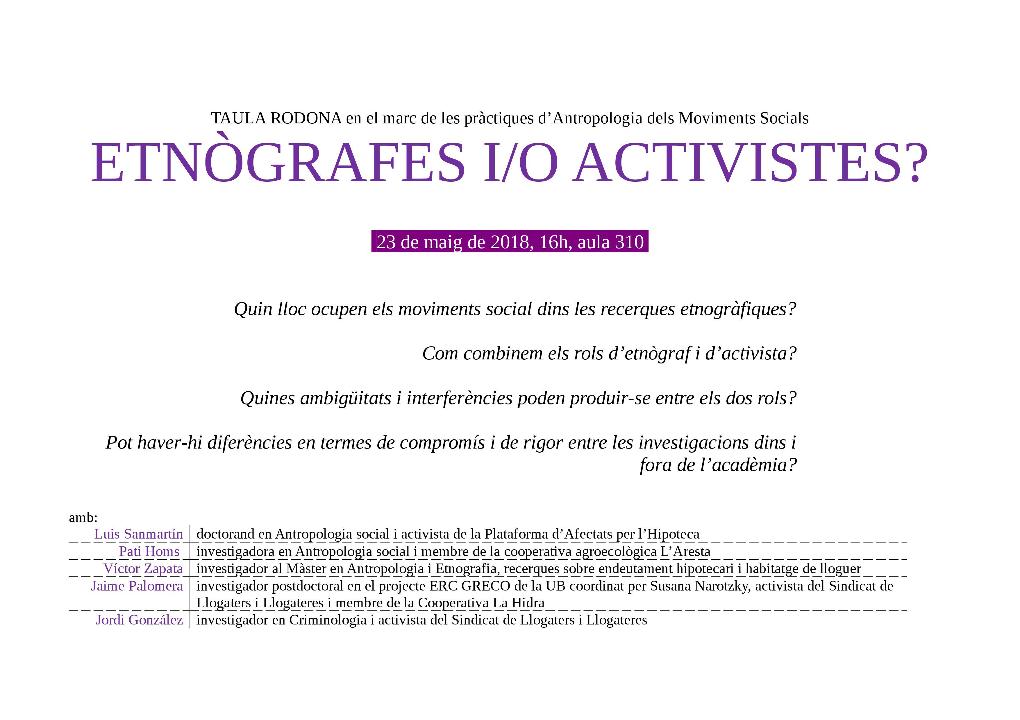 cartell taula etnografia_activisme